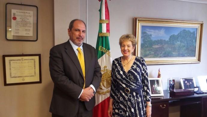 Reunión del presidente de la Fundación Casa de España en México y la embajadora de México en España