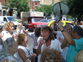 Una de las manifestaciones organizadas por los médicos.