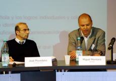 José Povedano y Miguel Montero, dos de los firmantes de la carta.