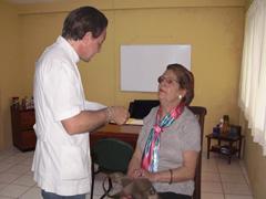 Control del glaucoma en la visión en el salón del Centro Castellano y Leonés de Bahía Blanca.