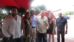 Ernesto Alarcon, Maria Antonia Delgado, Marcelo Llobell (Presidente), Luis Ignacio Larcada, Victoria Lerma (secretaria) y Carlos Ferrando (vicepresidente).