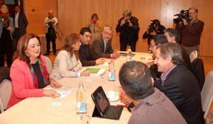 La reunión entre el PSOE e IU de Andalucía.