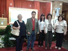 Representantes del Centro Valenciano de Rosario.
