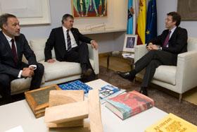 Roberto Varela, Carlos Pita y Alberto Núñez Feijóo.