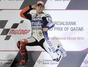 Jorge Lorenzo en el podio del Gran Premio de Catar.