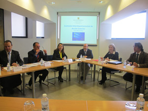 La primera reunión de la comisión.
