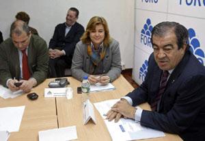 Francisco Álvarez-Cascos en la reunión de la directiva de Foro del miércoles 11 de abril.