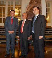 Antonio Pardo, José Luis Martínez y Mario San Miguel.