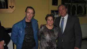 Josefa Flores y Tomas Cid y el presidente Monago.
