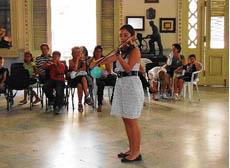 La violinista Daniela Vázquez.