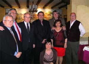 José Montilla (3ºi), exalcalde de Cornellá y expresidente de la Generalitat, acudió al evento.