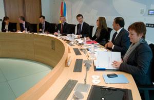 Imagen de la reunión del Consello de la Xunta que aprobó estas medidas.