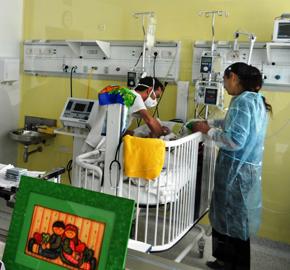 Unidad de cuidados intensivos para recién nacidos del sanatorio de Casa de Galicia.