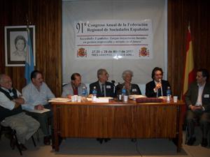 Una de las sesiones del 91º Congreso de la Federación de Sociedades Españolas de Bahía Blanca.