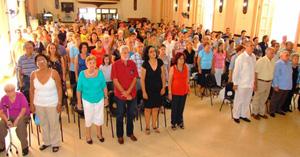 Vista del salón de actos de la Asociación Culinaria de Cuba, sede de la actividad por el Día de la Comunidad.