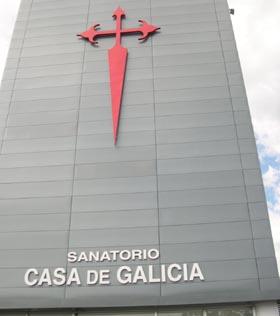 Frente del sanatorio de Casa de Galicia de Montevideo.