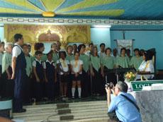 Actuación del coro 'Hespérides' en templo masónico de La Habana.