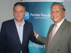 Alfredo Prada y Adolfo Vázquez en Buenos Aires.