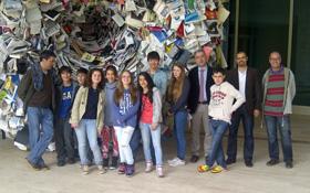 Los alumnos del Instituto Cañada Blanch en la Cidade da Cultura.