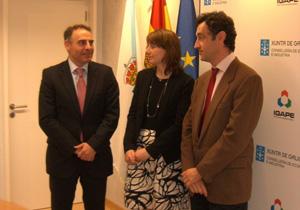 La convocatoria incluyó un encuentro con el director del Igape, Javier Aguilera, en el que participó también el director de la red Pexga, Armando Villanueva y la directora de la PexGa inglesa, Montserrat Rodríguez Conesa.