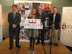La presidenta de la Diputación, Isabel Carrasco, en la recepción a los leoneses que residen en Bilbao.
