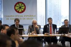 José Manuel García-Margallo en la reunión con empresarios españoles en Brasil.