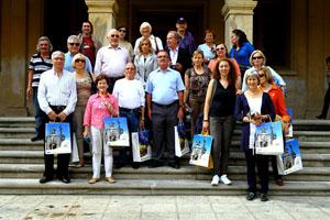 Los socios durante la visita a Soria.