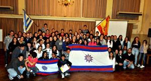 Los jóvenes participantes en el Congreso.