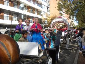 Los más jóvenes también participaron en la romería.