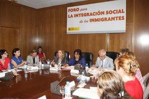Marina del Corral y Aurelio Miras, en la reunión.