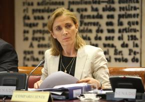 La secretaria general de Inmigración y Emigración, Marina del Corral, en el Senado.