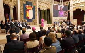 Una vista del acto que se celebró en el Palacio del Infantado de Guadalajara.