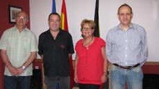 Balbino Cuervo, Antonio Navarro, Isabel García Jer y Francisco Rodríguez Vita.
