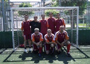 Parte del equipo campeón, del Centro Leonés de Barcelona.
