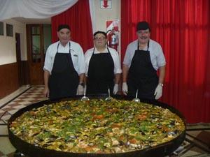 Los cocineros José Alvado Alvado, José Pérez Pérez y Alberto Pérez Alvado.