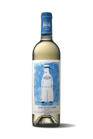La botella con el diseño original.