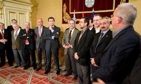 Alberto Núñez Feijóo recibió el pasado mes de diciembre a los miembros de la Comisión Delegada del Consello de Comunidades Galegas.