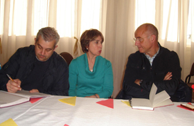 Alejandro López Dobarro, Josefa Silva Castro y Santiago Camba en Puerto San Julián.