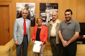 Aurelio Miras Portugal, Carmen Couto, Antonio Aliaga y Gabriel Gasó.