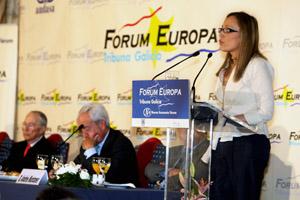 La conselleira de Facenda, en su intervención en el Fórum Nueva Economía.