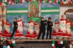 Una de las actuaciones folclóricas.