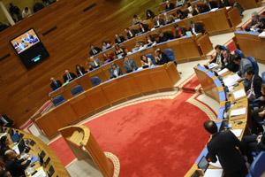 Imagen de archivo de una sesión plenaria en el Parlamento de Galicia.