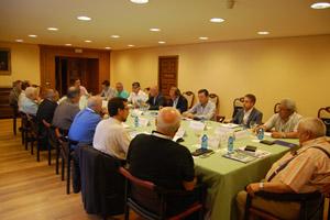 Imagen de la reunión de la Comisión Delegada saliente, en el Pazo de Mariñán.