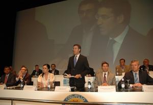 Alberto Núñez Feijóo en la inauguración del X Pleno del Consello de Comunidades Galegas.