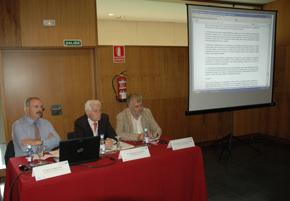 Un momento del relatorio de 'Cultura' en el que participó Ramón Villares, primero por la izquierda.