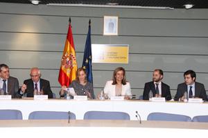 Báñez, con Del Corral y Miras en la reunión.