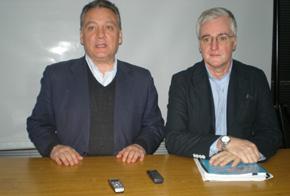 Prada junto a José Manuel Rodríguez, nuevo responsable del Comité Organizador del Congreso del PP en Argentina.