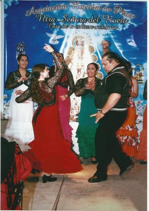El espectáculo estuvo a cargo de la profesora de flamenco Marcela Manzano.