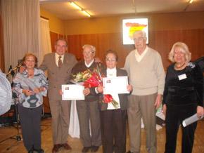 Lorenza Ortega, David Garijo, Epifanio Jiménez, Juana Gómez, Diego Caparroz y Juana Isabel García.
