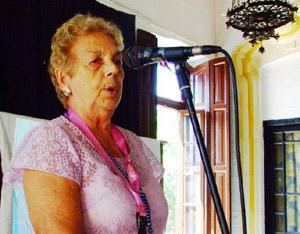 María A. Marcos Alonso, presidenta de la Federación.
